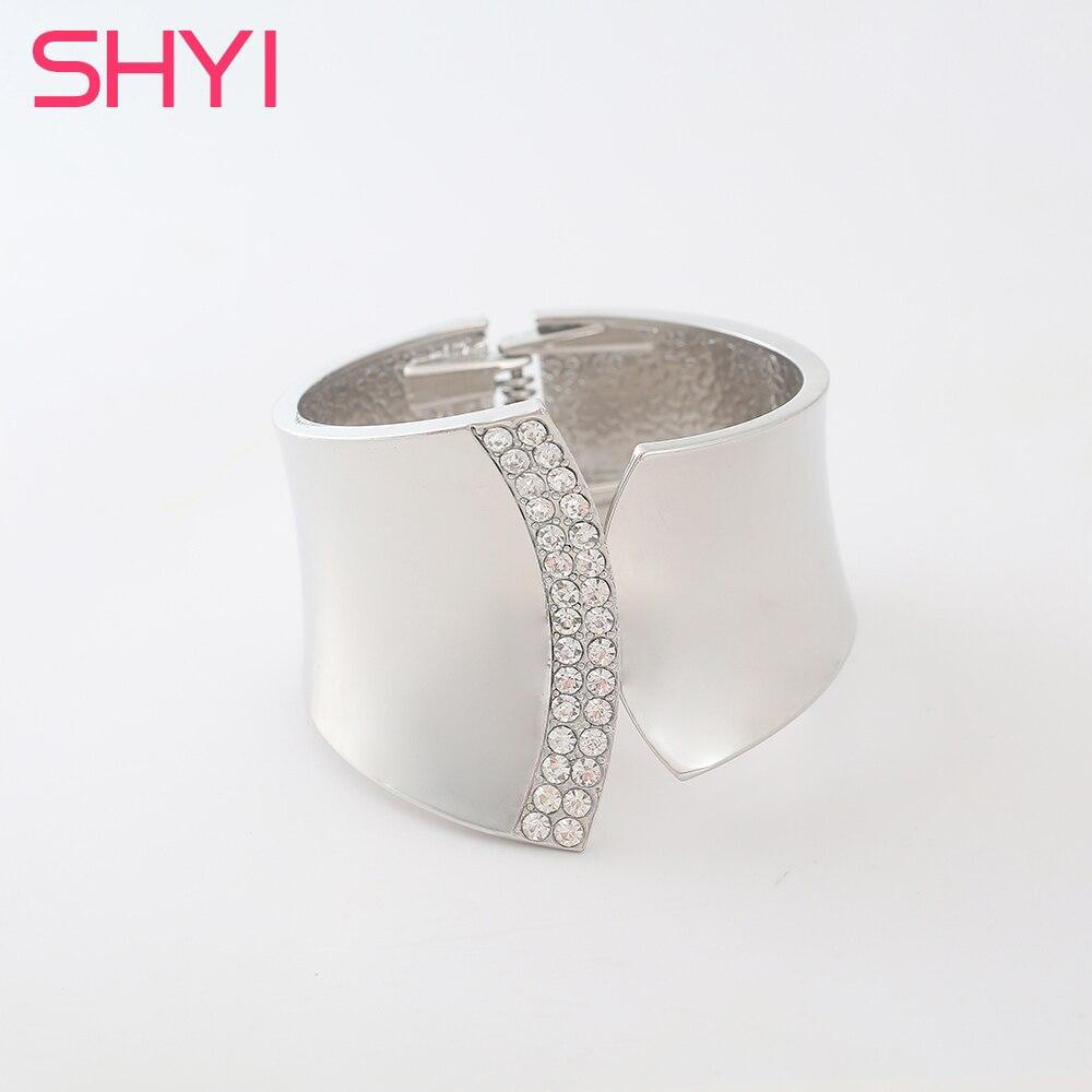 Fashion Silver Women Bracelets Bangles Viking Bracelet Crystal Opening Cuff Bangle Jewelry Accessories bijoux femme