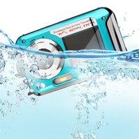 1080 P водонепроницаемый 24MP Макс двойной экран 16x зум фото видеокамера Цифровые фотографии камера Поддержка DIS