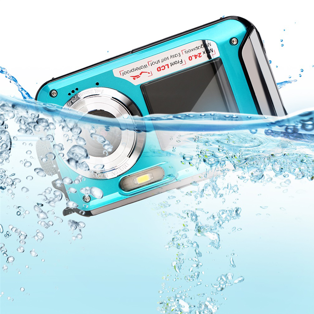 1080P Waterproof 24MP MAX Double Screen 16x Zoom Photo Camcorder Digital Picture