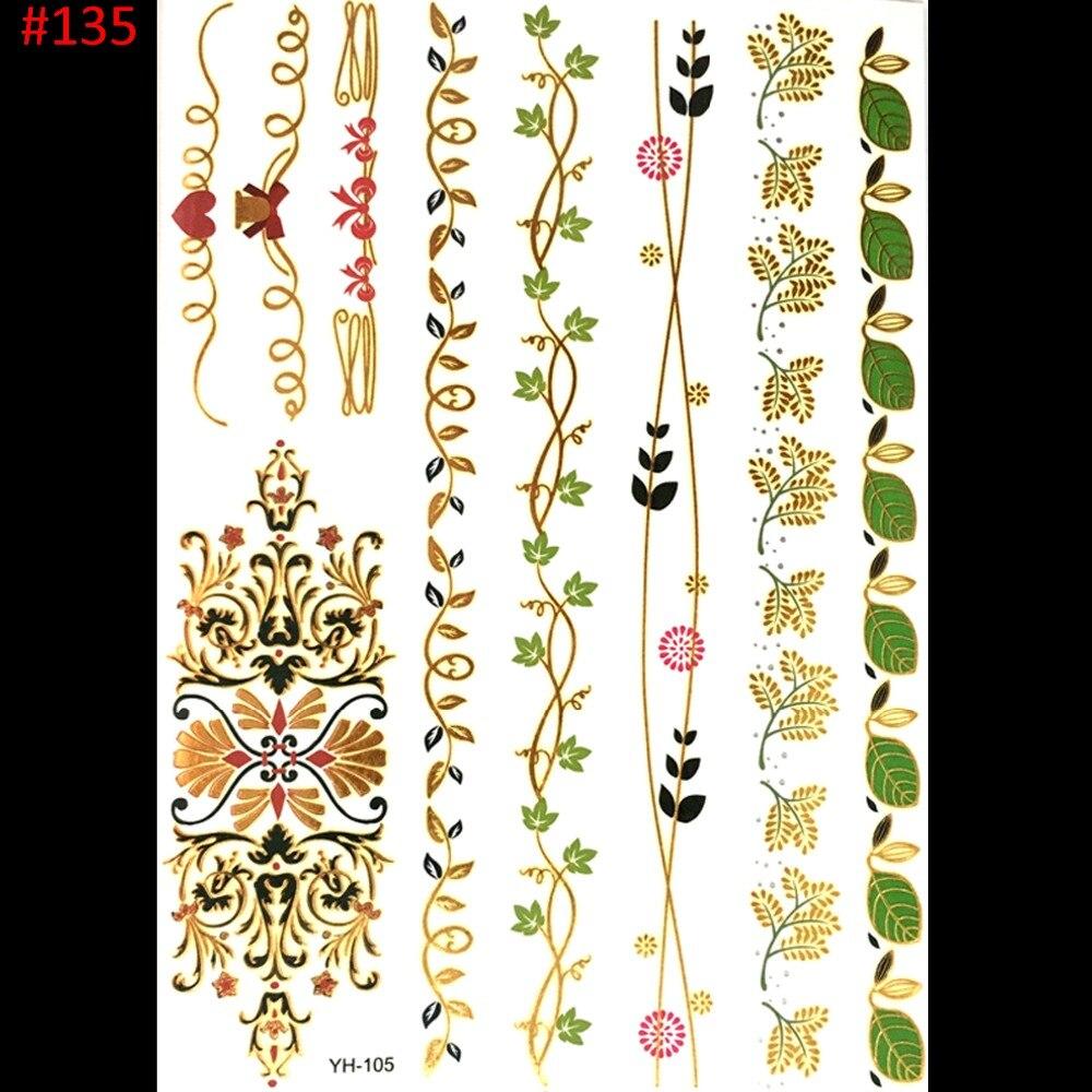 Us 099 Goud Zilver Vlinder Rose Sieraden Sticker Tattoo Metallic Golden Flash Tattoos Tattoo Grote Tijdelijke Tattoo Prijzen Sticker In Goud Zilver