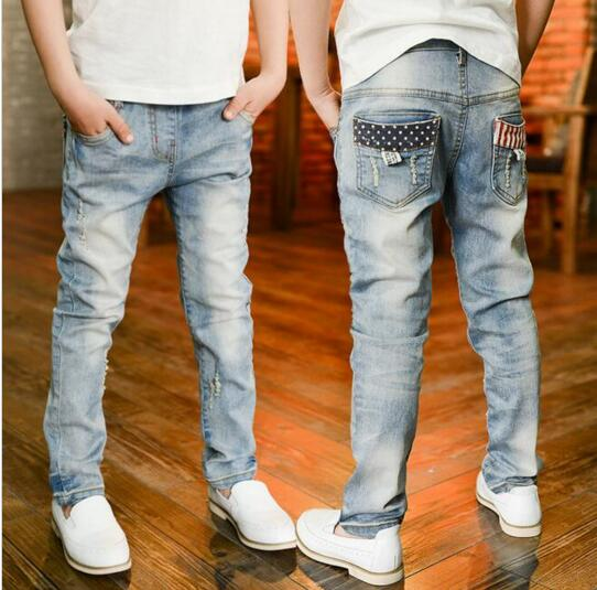 6-13 years 2016 summer boys pants jeans children kids boys jeans trousers denim for big boys pants teenage boys jeans 10 years