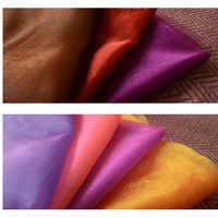 Tela de Organza de dos colores de vidrio de dos tonos tela brillante blando con peso ligero para cortina de vestir 3 metros por pieza