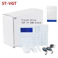 Advanced Alarm Control by PC RJ45 Ethernet Alarm Wireless GSM Alarm TCP IP Alarm System with Outdoor Strobe Flash Siren