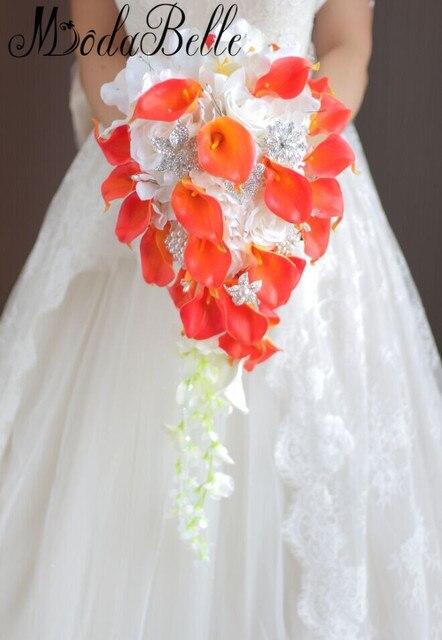 Фото букет для невесты modabelle в западном стиле с кристаллами искусственные цена
