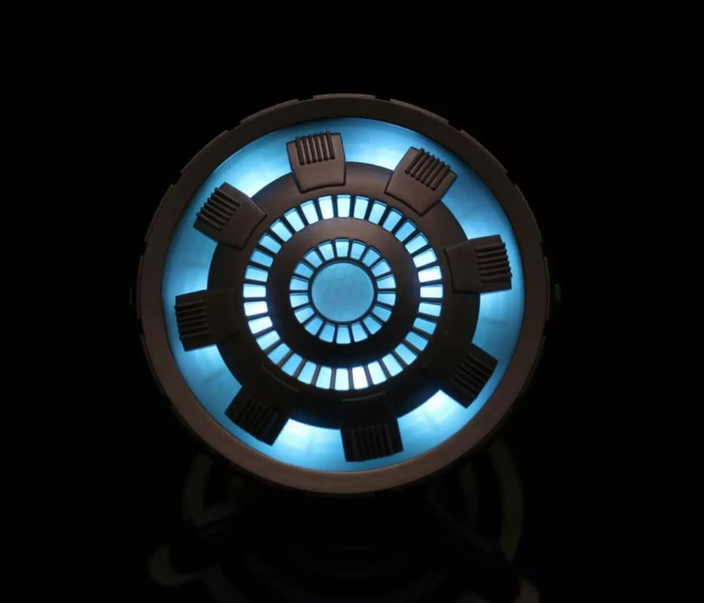 10 Mile Remote Cosplay Props Toys Legend 1:1 Scale Iron Man Arc Reactor  With LED Light Iron Man 3 PVC Action Figure Toy Gift Kid In Action U0026 Toy  Figures ...