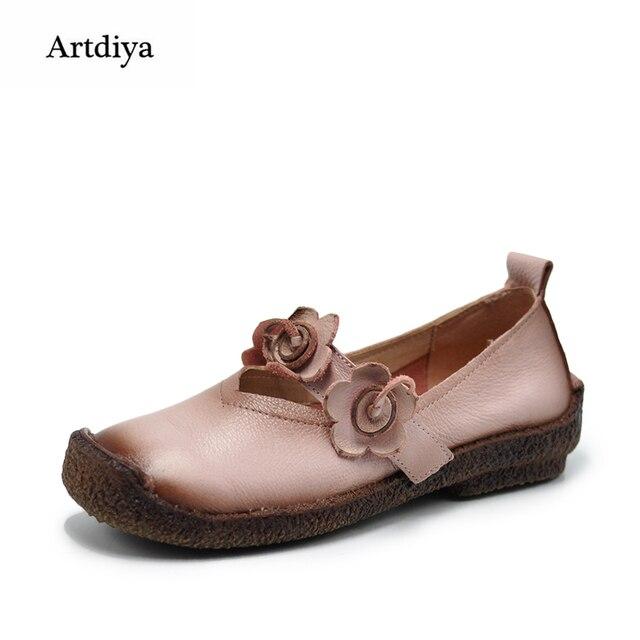 Chaussures Souples En Cuir Fleur tA4Qa