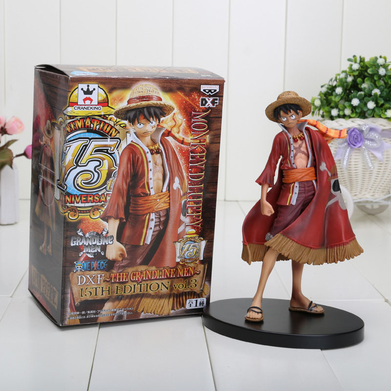 17CM One Piece Monkey D Luffy PVC Action Figure Collectible Toy Doll
