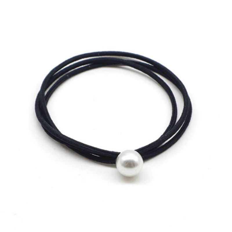 Sale Three-layer Hair rope Lovely Pretty Artificial Pearl Women Fashion Elastic Hair Bands Tie  Accessories