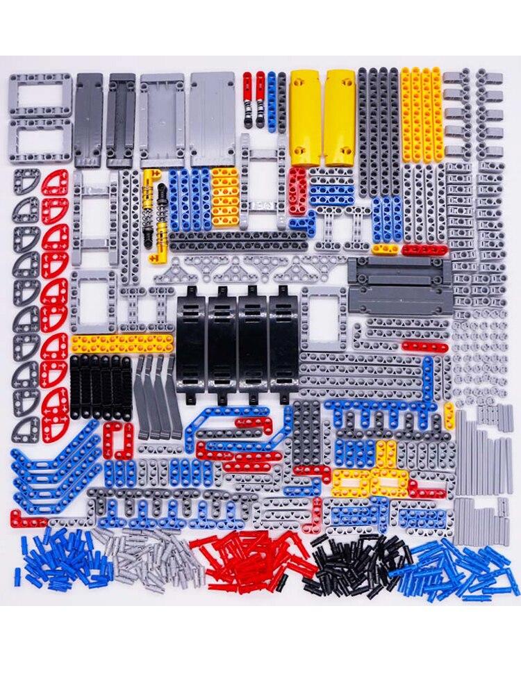 Car-Toys Connector Bricks Panel-Gear Axle Technic-Parts Building-Blocks Beam Bulk-Sets