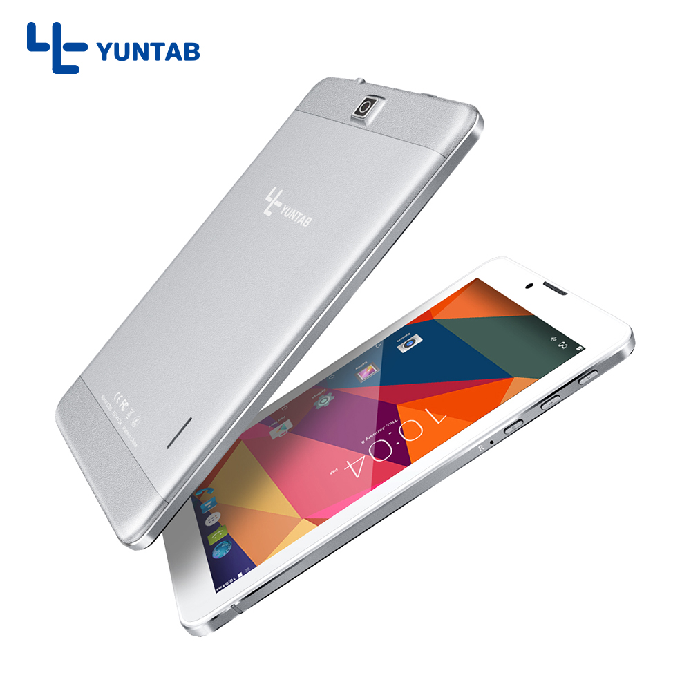 Hot !! YUNTAB E706 alloy Tablet PC 3g cellphone Quad Core touch screen 1024x600 Android 5.1 Dual Camera and Sim Card