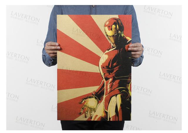 IRON MAN Kraft Paper Poster