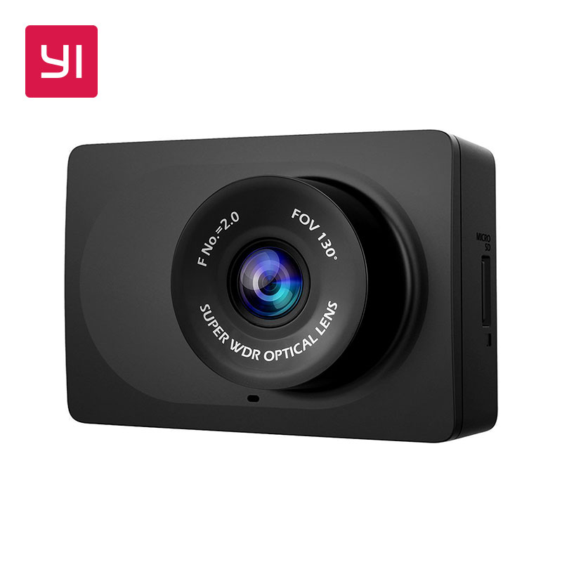 YI компактная тире камера 1080 p Full HD Автомобильная приборная панель камера с 2,7 дюймов ЖК-экран 130 WDR Объектив g-сенсор ночное видение черный