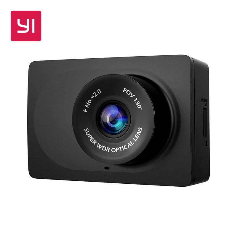 YI Compact Dash Caméra 1080 p Full HD Tableau De Bord de Voiture Caméra avec 2.7 pouces LCD Écran 130 WDR Lentille G -capteur de Vision Nocturne Noir