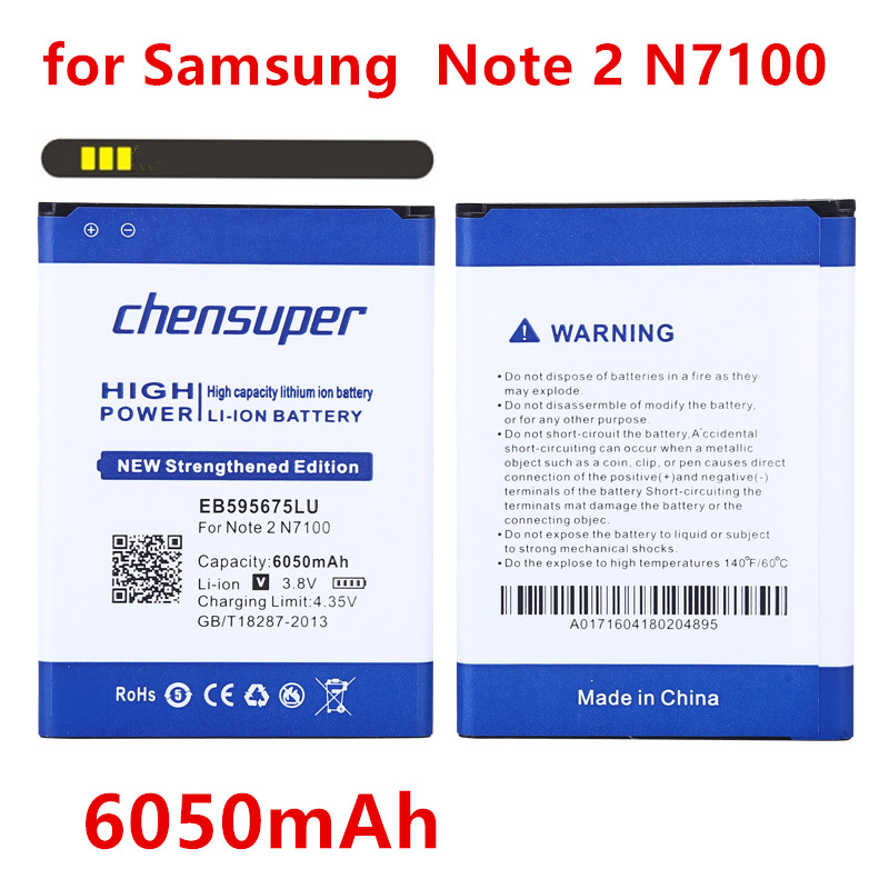 Mobile Phone Batteries Frugal 2019 New 6050mah Battery Eb595675lu For Samsung Galaxy Note 2 Ii Note2 N7100 E250 Note 2 Lte N7105 N7102 T889 L900 Verizon I605 Cellphones & Telecommunications