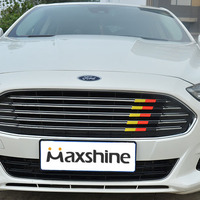 Car Sticker Grill Emblem Grille Badge For Ford Mondeo Focus 3D Color Trim Strip ABS Tuning