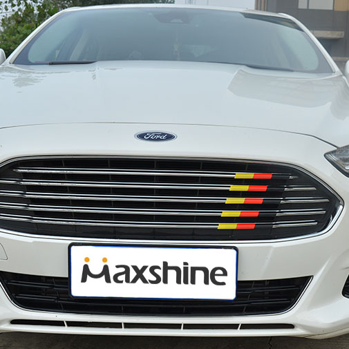 Car Sticker Grill Emblem Grille Badge For Ford Mondeo Focus 3D Color Trim Strip ABS Tuning Auto Car Styling Accessories 3d turbo style grill decoration emblem for car tuning silver