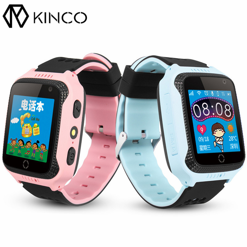 KINCO GPS Child Smart Watch SOS Call Location 1.54inch Touch Screen Tracker for Kid Safe Baby Watch With Wifi Kids Wristwatch
