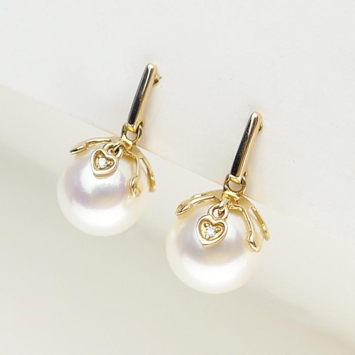 925 silver real natural big AKOYA rose font b earrings b font font b earring b
