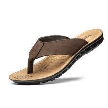 d6062c41e1361 GSY18 2018 new men s flip-flops summer beach shoes non-slip sandals trend  Korean leather massage sandals men