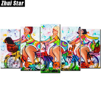 Zhui Star Full Square Diamond 5D DIY Diamond Painting Sexy Fat Woman 3D Embroidery Cross Stitch