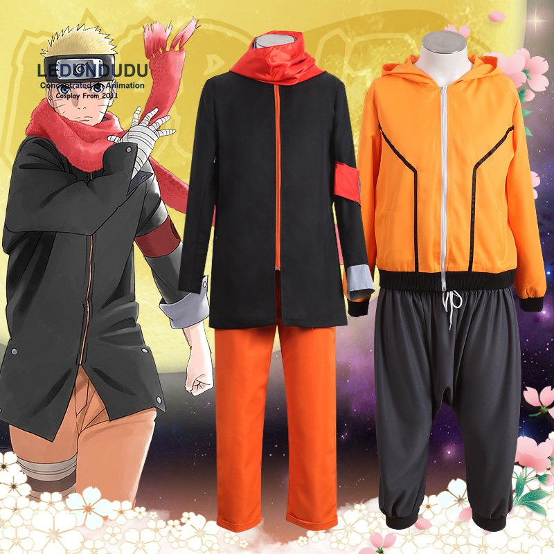 Anime THE LAST NARUTO THE MOVIE Uzumaki Naruto Cosplay Costumes Boruto Fancy Halloween Party Ninja Uniform 8th 9th Clothes