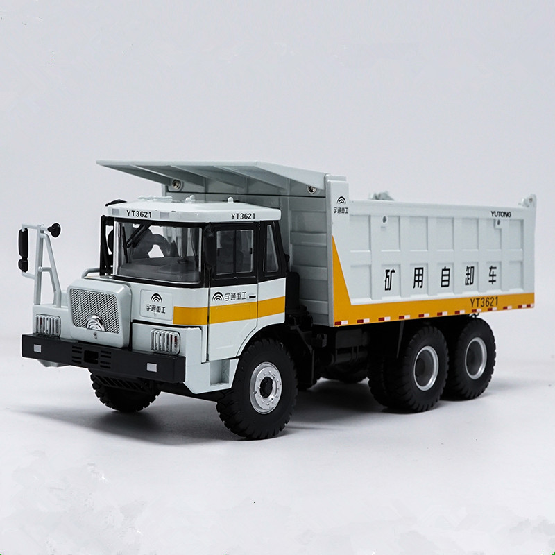 Collectible Alloy Toy Model Gift 1:32 Scale Yutong YT3621 Heavy Duty Mine Dump Truck Construction Vehicles DieCast Model Display