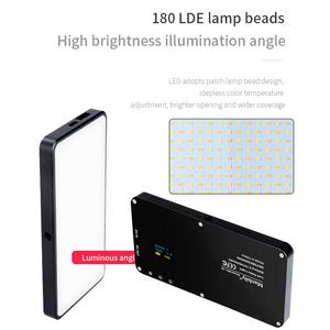 Image 5 - Manbily MFL 06 ミニポータブル写真撮影の照明 ultral 薄型 4500 led ビデオライト 180 led 補助光高 cri> 96 のためのカメラ