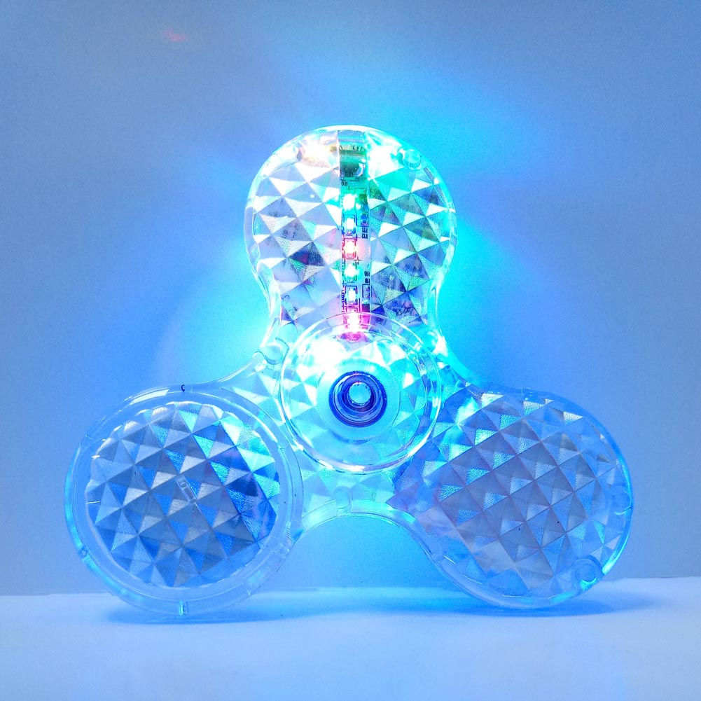 Spinner Transparent LED Light Bluetooth Fidget Spinner Crystal ABS Spinner EDC Switch Hand Autism Relief Anxiety Stress Toy