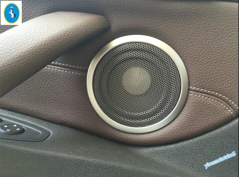 Lapetus Accessories Interior Side Car Door Speaker Audio Loudspeaker Sound Cover Trim 4 Pcs Fit For BMW X1 F48 2016 2019 ABS