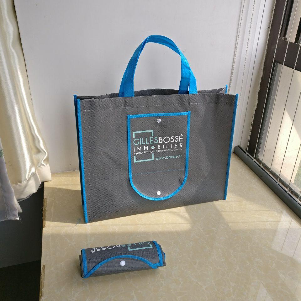 2018 wholesale reusable bags foldable non woven shopping bags promotion bag custom logo 500pcs lot Free