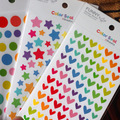The new Cute love hearts/dots/Five-pointed stars diary decoration sticker set phone stickers child DIY toy 6sheets/set