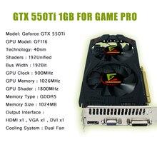 Новое поступление игры Графика карта GeForce GTX 550Ti видео карты GDDR5 1 г 192Bit место де-видео карты Поддержка PC Игры Full HD 1080 P