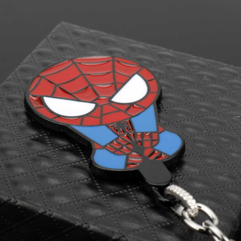 MQCHUN Meraviglie Comics Eroe Spider Man Portachiavi Spiderman Titolare Portachiavi Regalo Chaveiro Catena Chiave Dell'automobile Pendente Movie Souvenir