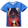 2016 Cartoon Baby Boy T Shirts Star Wars Children T-shirts Kids Summer Tops for 4-12Yrs Teen Clothes Boy Tees 5pcs/lot Wholesale