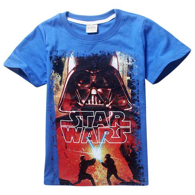 5a431f8e80a029 2016 Cartoon Baby Boy T Shirts Star Wars Children T-shirts Kids Summer Tops  for 4-12Yrs Teen Clothes Boy Tees 5pcs lot Wholesale