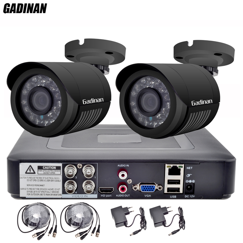 GADINAN 4CH AHD 1080N DVR mit 2 STÜCKE 720 P/960 P/1080 P Optional Wetterfeste Gewehrkugel CCTV hause Überwachungskamera-system DVR Kit