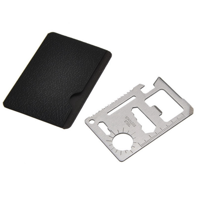 1Pc 2Colors Military Outdoor Tool Multifunction Camping Survival Hunting Tank Repair Tools Pocket Saber Card With Black Holster