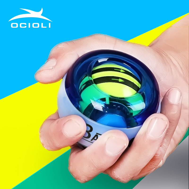 OCIOLI Power Explosive Training Gyroscrope Force Gyro Wrist Arm Exerciser Ball Hand Spinner Fitness Carpal Expander new 7 2 9 7cm training arm and back muscles pull ups strengthen ball wrist climbing finger training hand grip strength ball
