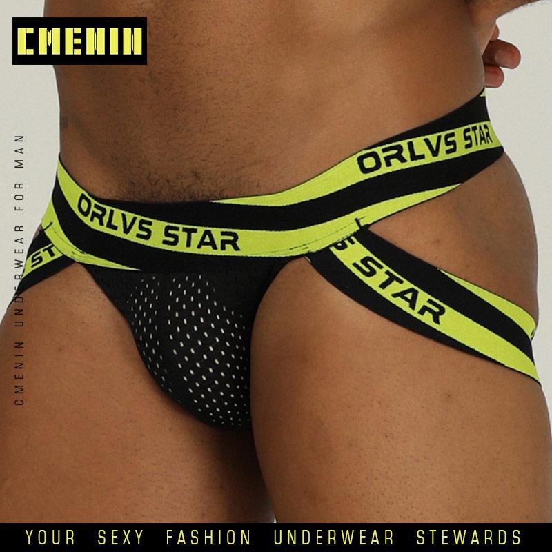 Sexy Underwear Gay Men Jockstrap Briefs Cueca Male Panties G String And Thongs Gay Men Underwear Jocks Mesh Breathable Mesh