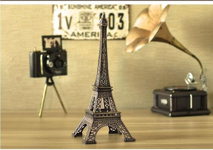 Home Decor Metal Crafts Creative Romantic Eiffel Tower Model Fashion ...