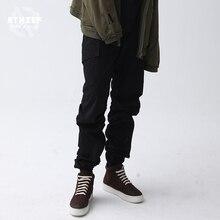 Um ladrão Harem Pants calças masculinas de Lazer Hip hop calças Elásticas Pés Pés Moletom outono Soltas tamanho Grande roupa interior