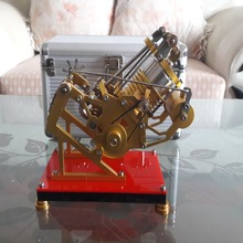 Forced air-cooled smoldering vacuum Stirling engine, send friends birthday gift metal model creative products forced