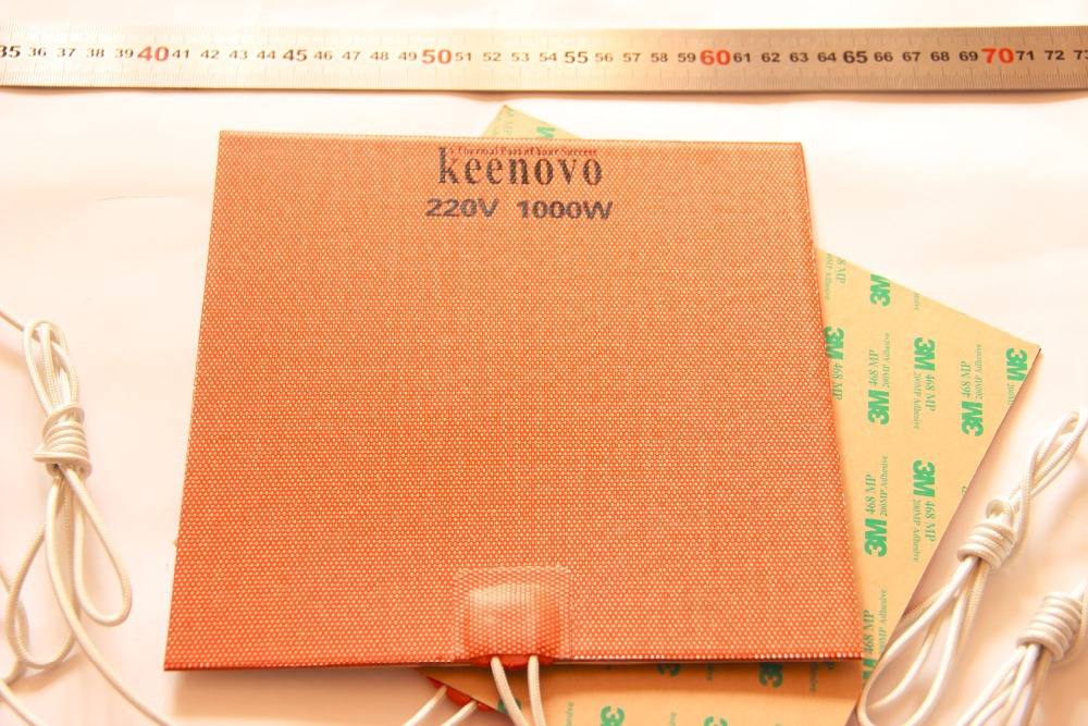 200X200mm 1KW 220V Powerful KEENOVO Big Truck Engine Block Oil Pan Flexible Silicone Heater Pad