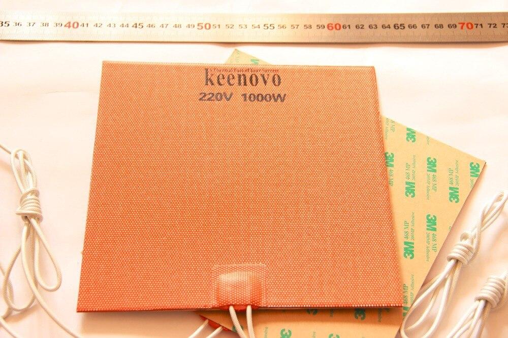 200X200mm, 1KW @ 220 V, potężny KEENOVO duży samochód blok silnika miski olejowej elastyczne grzałka silikonowa podkładka w Elektryczne poduszki grzewcze od Dom i ogród na  Grupa 1