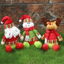 Hot High Quality Christmas Santa Claus Doll Gift Doll Figurine Toy Christmas Tree Decorations Merry Xmas Items V3291/V3292