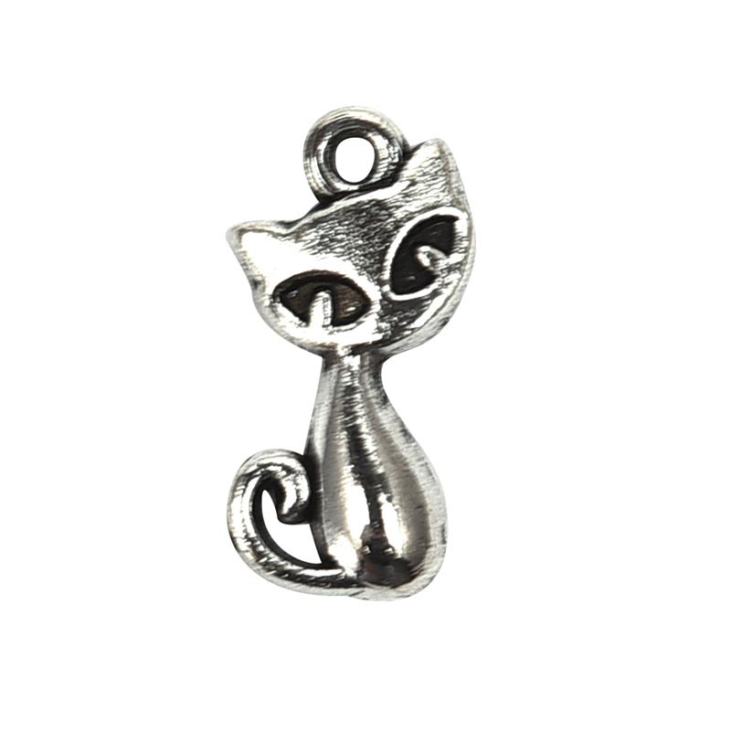 50pcs/pack Cat Charms bamoer Jewelry findings Alloy pendant handmade DIY Necklace Bracelet gift Jewelry Accessories