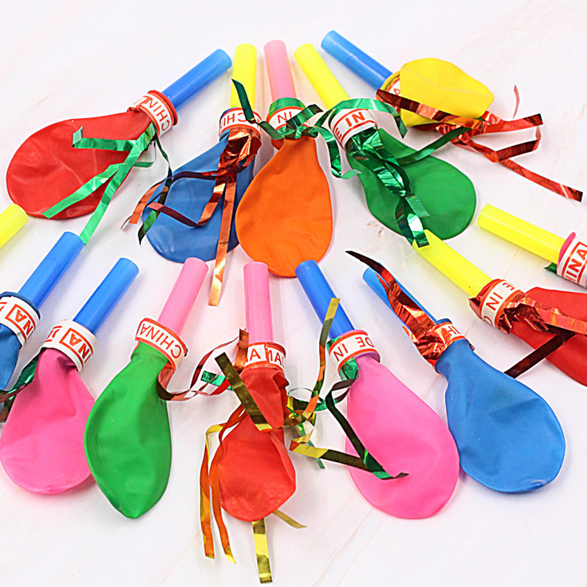 30PCS Mixed Color Whistle Balloon Children Toys For Kids Birthday Party Decoration Party Noise Maker Funny Gifts Gag Toy