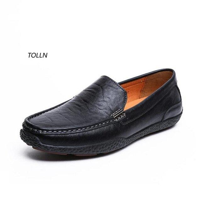2016 новый 100% натуральной кожи мужская мода повседневная обувь дышащая плоские обувь для вождения удобные высокое качество бизнес обувь