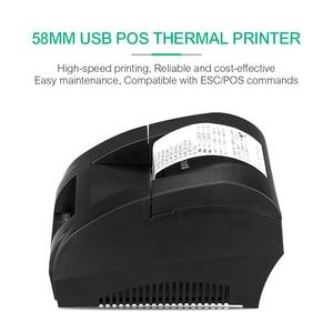 Image 3 - Original ZJ 5890K Mini Printer 58mm POS Thermal Receipt Bill Printer Universal Ticket Printer Support Dot matrix Multi language