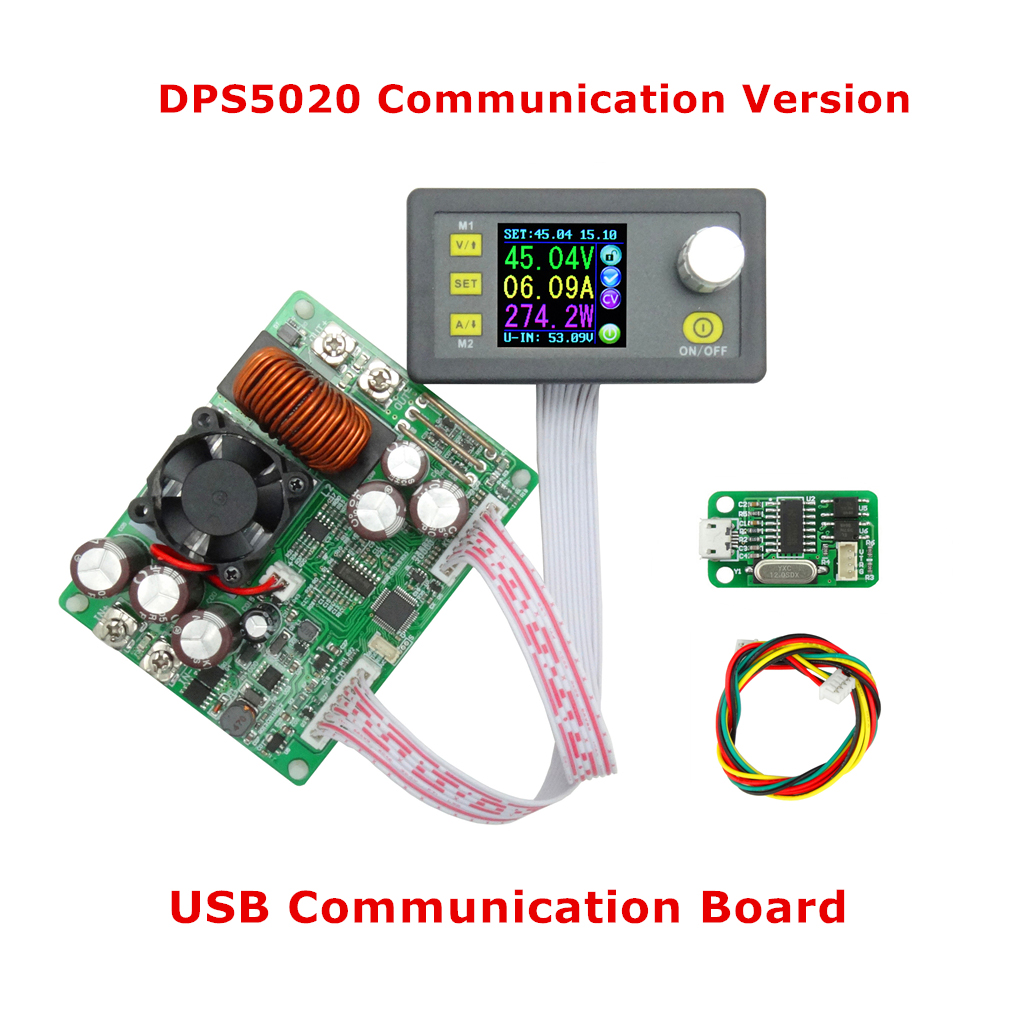DPS5020 USB Communication 50V 20A Constant Voltage Current Step-down Digital Power Supply Buck Voltage Converter LCD Voltmeter dps5020 constant voltage current step down communication digital power supply buck voltage converter lcd voltmeter 50v 20a